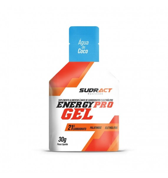 Energy Pro Gel sachê de 30g - Sudract Nutrition - Água de Co