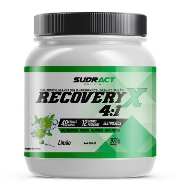 Recovery X 4:1 Pote 975g - Sudract Nutrition Limão